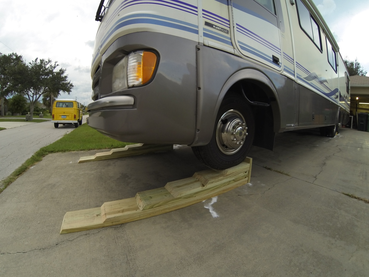 How to build RV leveling ramps