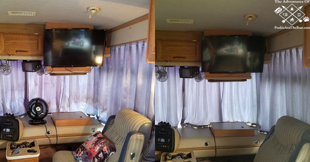 Cleaning Stained RV Drapes With Homemade Laundry Soap The