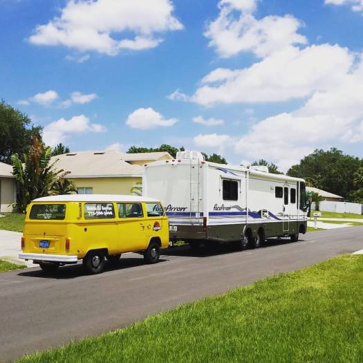 1998 Fleetwood Pace Arrow and 1977 VW Bus